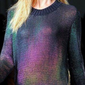 SportMax Defile Sweater Oil Slick Holo Iridescent